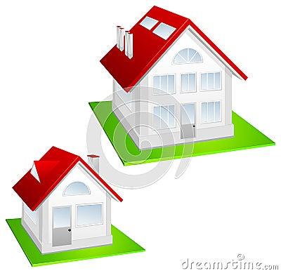 Model van plattelandshuisje