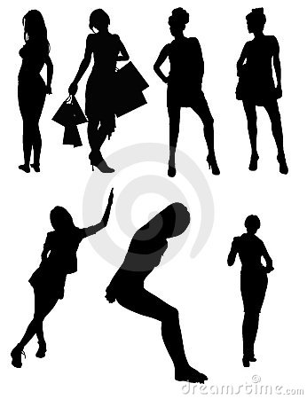 Model Vector Silhouettes