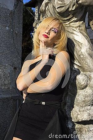 Model in Villa