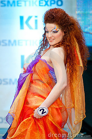 Model walks the runway during Editorial Image