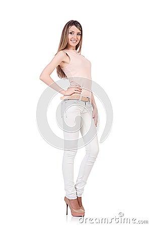 Model wearing fashionable clothing