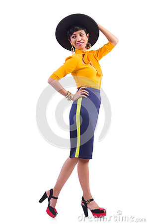 Model wearing fashionable clothing