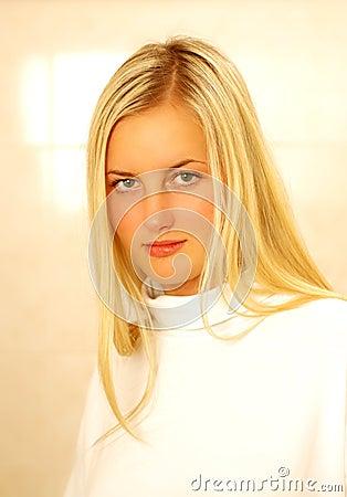 Model on white