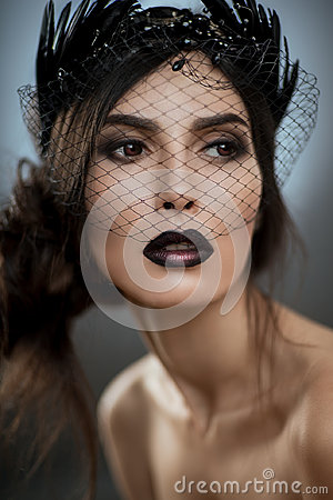 Free Model With Veil On Face Royalty Free Stock Photography - 96484267