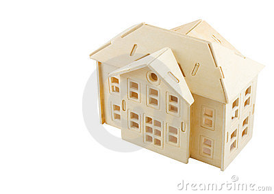 Model of wooden house