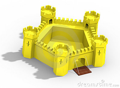 Model of yellow castle