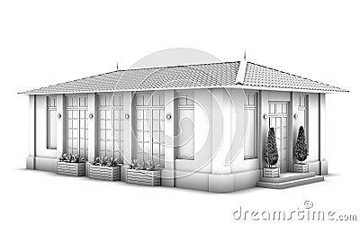 Modell 3d av huset.