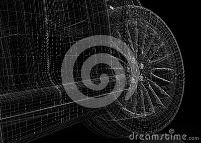 Modell des Autos 3D