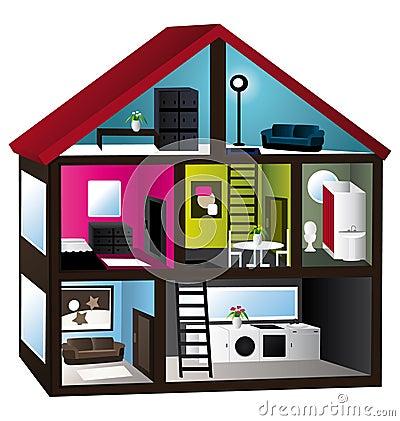 Modell för hus 3d