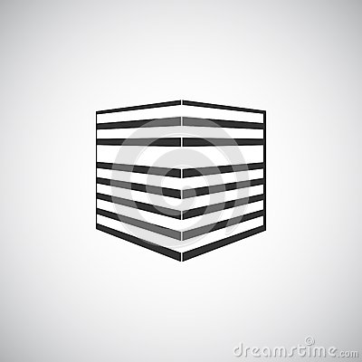 Modello astratto di progettazione di logo della siluetta for Progettazione della costruzione domestica