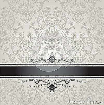 Modello d 39 argento di lusso della carta da parati floreale for Carta parati argento