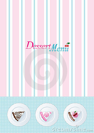 Modello del menu del dessert