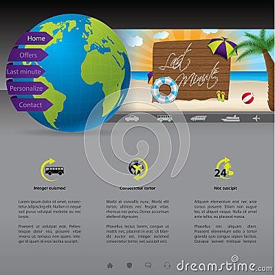 Modello del sito Web con l offerta dell ultimo minuto