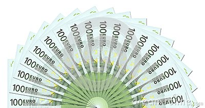 Modello di 100 un euro note