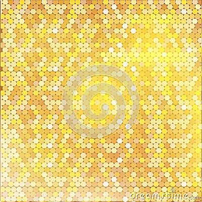 Modello dorato di lusso con piccola struttura mista dei punti