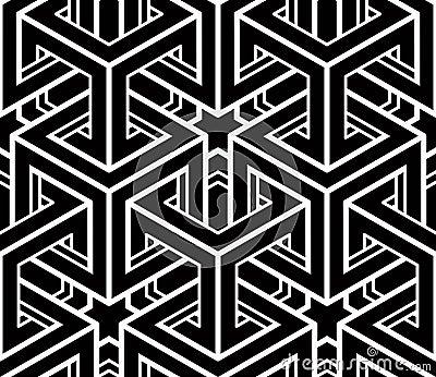 Modello ornamentale ottico senza cuciture geometrico for Immagini tridimensionali gratis