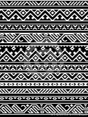 Modello senza cuciture in bianco e nero azteco geometrico for Sfondi bianco e nero tumblr