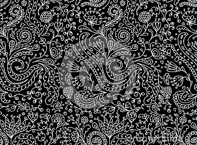 Modello senza cuciture floreale ornamentale per la vostra progettazione