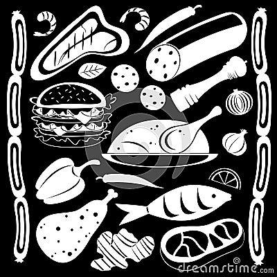 Modelo blanco y negro del alimento
