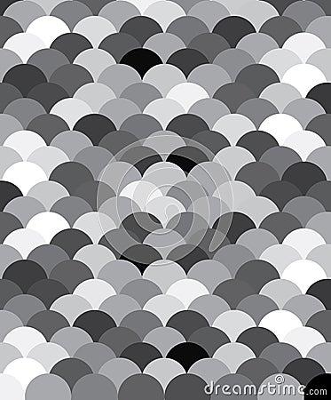 Modelo blanco y negro escalas de un pescado del la