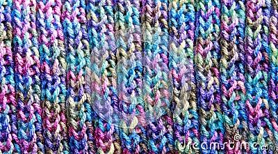 Modelo colorido del Knit de la puntada de la costilla