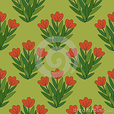 Modelo de flores rojo