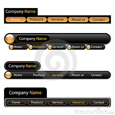 Modelo de la navegación del menú del Web