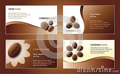 Modelo de la tarjeta de visita del café