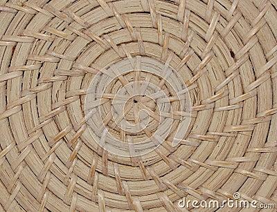 Modelo de mimbre tejido de la textura