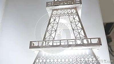 Modelo de torre Eiffel almacen de video