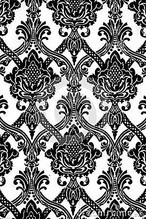 Modelo del papel pintado del vintage en blanco y negro - Modelos de papel pintado ...
