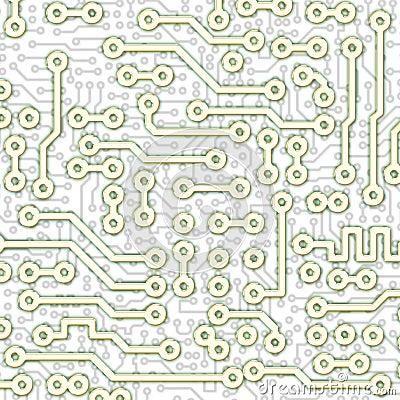 Modelo gráfico abstracto de la luz de la tarjeta de circuitos