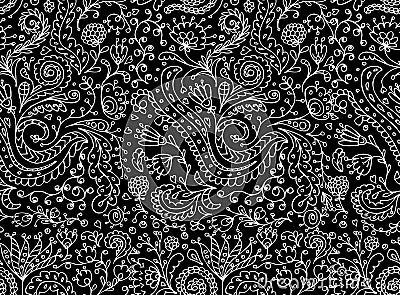 Modelo inconsútil floral ornamental para su diseño