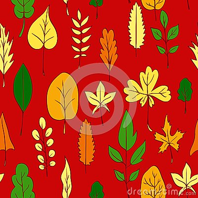 Modelo inconsútil del vector con las hojas