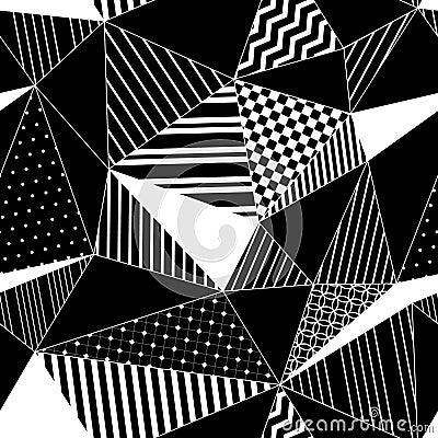 Modelo incons til en blanco y negro vector de los for Imagenes de cuadros abstractos geometricos