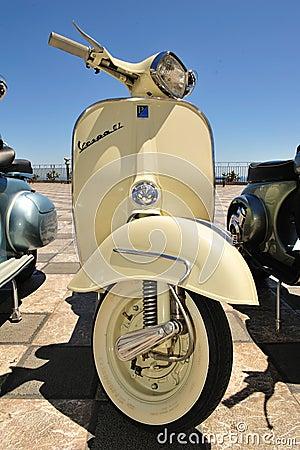 Models of vintage vespa piaggio Editorial Stock Photo