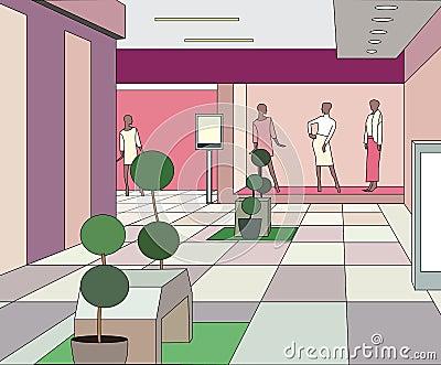 Moderm mall interior