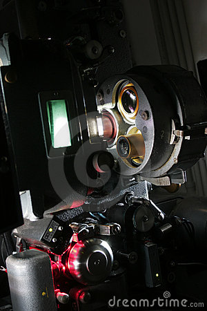 A modern 35mm film projector