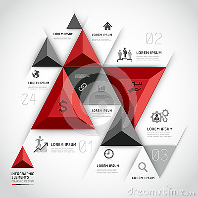 Free Modern 3d Infographics Business Triangle. Royalty Free Stock Photos - 38942938