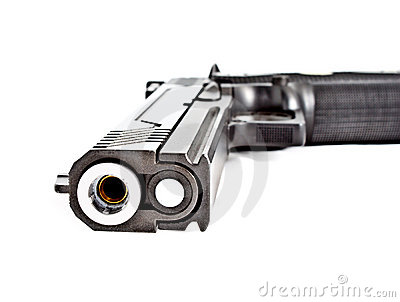 Modern .45 semi automatic handgun