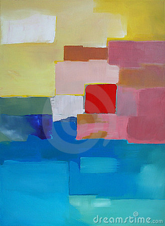 Free Modern Abstract Art - Painting - Landscape Royalty Free Stock Photography - 14477977