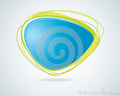 Modern abstract blue speech bubble