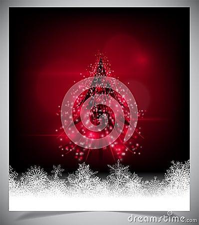 Modern abstract christmas tree, eps 10