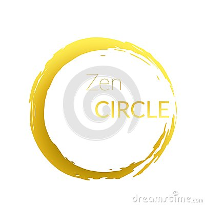 Free Modern Abstract Golden Brush Painted Circle Over White Royalty Free Stock Photos - 104734708
