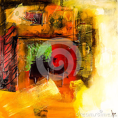 Modern abstract painting fine art artprint Editorial Stock Image