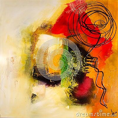 Modern abstract painting fine art artprint Editorial Image