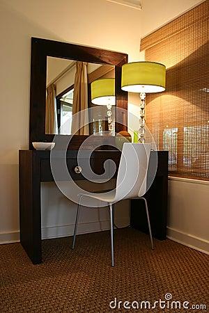 Modern African interior bedroom dressing table