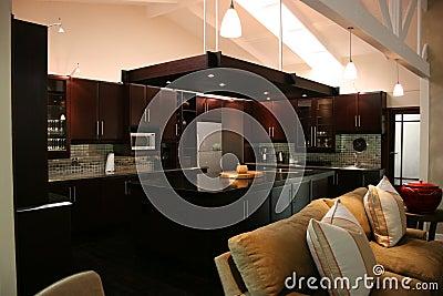 Modern African interior kitchen
