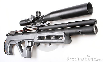Modern air gun with sight