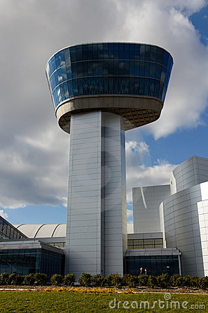 Modern Airport Tower at Smithonian Air and Space Editorial Stock Image